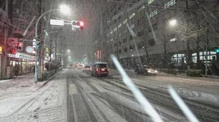東京に大雪